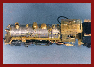 Arial view of finished locomotive